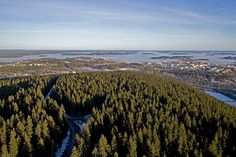 Kuopio and Kallavesi from Puijo Tower (Finland) - via Irmeli • https://www.pinterest.com/pin/428404983273447496/