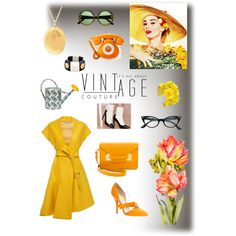 VINT-AGE by caritoantezana on Polyvore featuring polyvore, moda, style, Sportmax, Oscar de la Renta, Jeffrey Campbell, Sophie Hulme, Chanel, Forest of Chintz and V&A