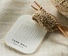 yarn ball tag for pristine / daikoku design institute. Name Card Design, Tag Design, Label Design, Packaging Design, Branding Design, Logo Desing, Branding Ideas, Icon Design, Business Card Maker