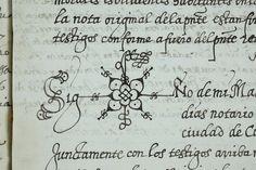 En los archivos descubrirás los signos tan curiosos que usaban los notarios para firmar las escrituras #NosinArchivos