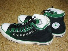 Chuck Taylor CONVERSE All Star High Top Green Sneakers Shoes Men's 10 Womens 12 #chucktaylorconverse #Athletic