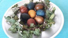 Uova colorate con colori vegetali