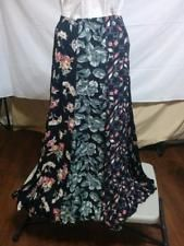 100s of Items on SALE! WITH FREE SHIPPING!  Vintage 70's Gored Maxi Skirt 100% Rayon Black Mixed Print Size S Huge Sweep  | eBay