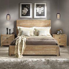 Montauk Panel Bed by Grain Wood Furniture Cama Box King Size, Modern Bedroom, Bedroom Decor, Master Bedroom, Contemporary Bedroom, Master Suite, Gray Bedroom, Bedroom Colors, Kids Bedroom