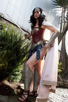 Warrior Wonder Woman (by Meagan Marie) // Calls to mind Aaron Diaz's character redesign