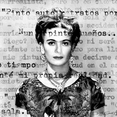 """Saatchi Art Artist Martina Rall; Collage, """"«Being Frida Kahlo», Limited Edition Print 1/20""""  - Featured on Design Inspiration: Fabulous Frida - http://canvas.saatchiart.com/decor/inspiration/design-inspiration-fabulous-frida"""