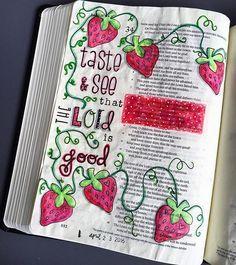 Bible Journaling by Mimi @_mimi_rn | Psalm 34:8-10