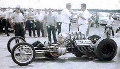 Vintage drag racer