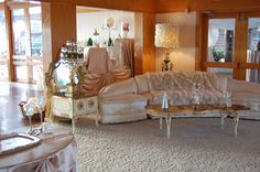 The ultimate shabby chic set up in our Seaside room lounge area
