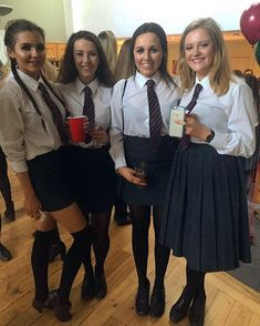 Women In College Uniforms - Yahoo Search Results Yahoo Image Search results British School Uniform, College Uniform, Cute School Uniforms, School Uniform Girls, Simple Summer Dresses, School Girl Dress, Pantyhose Lovers, Bad Fashion, Schoolgirl Style