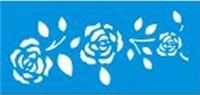 Stencil de Rosas 7 x 15cm - JX 420