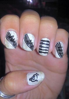 here comes the sun music beatles nail art