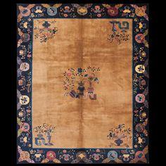 Chinese - Peking Rug - 23154 | Chinese 7' 10'' x 9' 8'' | Sand, Origin China, Circa: 1920