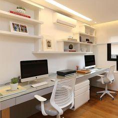 Projeto Hildebrand Silva #assimeugosto #homeoffice #escritorio #decoração