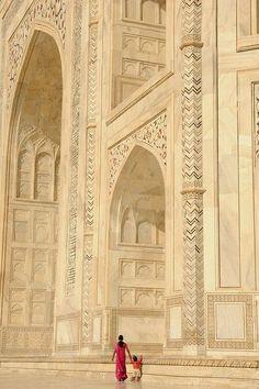 Agra, Taj Mahal ,Ind lovely art