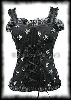 corset top  #fashion #skulls... Love it.
