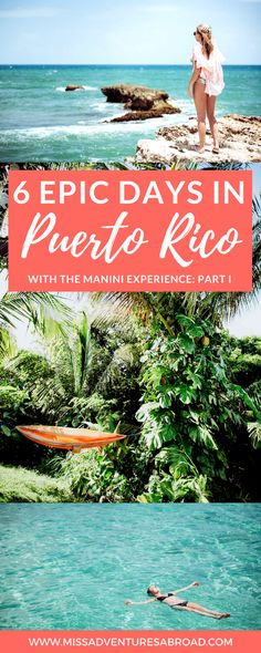 6 Amazing Days In Puerto Rico With The Manini Experience  · Discover off-the-beaten path Puerto Rico in 6 days! Incredible hidden waterfalls, the amazing El Yunque Rainforest, mangroves, beautiful beaches and more! Puerto Rico is the perfect island paradise for travelers looking for fun and adventure!