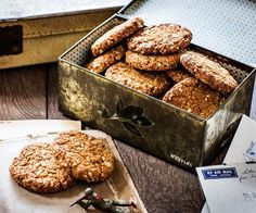 Traditional Anzac biscuits recipe - By FOOD TO LOVE, These sweet, golden Anzac biscuits are perfect enjoyed with a mug of tea or coffee. Author Natalie Oldfield of 'Love and Food From Gran's Table' shares her Gran Dulcie May's special recipe.