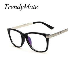 Retro Luxury Metal Leg Anti Fatigue Radiation-resistant Computer Goggles Reading Glasses Frame Eyeglasses Oculos De Grau M265 #Affiliate
