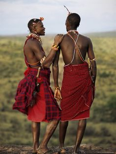 Traditional Kenya - two warriors of the Samburu Tribe. The Samburu, Turkana, and Masai are among the tribes who have by and large kept their traditional way of living.