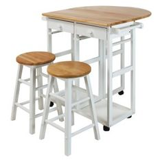 Casual Home Breakfast Cart with Drop-Leaf Table - Don't let the name limit you, because there isn't a wrong time of day for the Casual Home Breakfast Cart with Drop-Leaf Table . From morning...