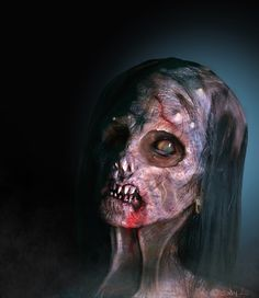 July, Head Study: Female Zombie - The Gnomon Workshop Forums Zombie 2, Zombie Apocalypse, Crazy People, Strange People, Creepy, Scary, Angels Blood, Dead On Arrival, Angel Of Death