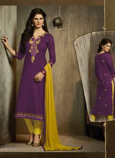 #Purple #Cotton #Palazzo #Salwar #Suit #nikvik  #usa #designer #australia #canada #freeshipping #fashion #dress #sarees #sale
