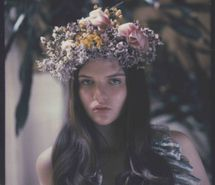 flower crown, flowers, girl, hair, little - inspiring picture on Favim.com