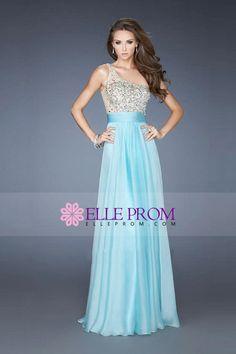 Prom Dresses 2013 A Line One Shoulder Chiffon Floor Length