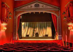 Interior view of Rosehill Theatre in Whitehaven, Cumbria, England.
