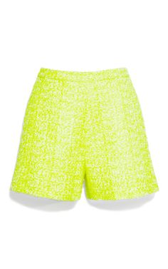 Fluorescent Tweed Shorts by Giambattista Valli - Moda Operandi
