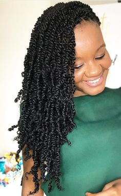 Bomb Twist is a soft,medium sized twist hair.It can be worn short or long and kept for up to 3 months,& can be washed. Its Soft Smooth &… Love Hair, Big Hair, Gorgeous Hair, Beautiful Braids, Kinky Twists, Twist Styles, Braid Styles, Natural Hair Tips, Natural Hair Styles