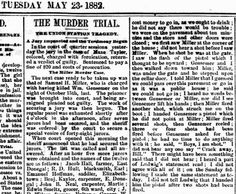 Genealogical Gems: On This Day: Miller charged with murder