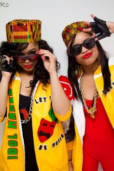 Salt-n-pepa 80s Fashion Clothes salt n pepa costumes twins