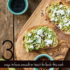 Lunch club: 3 ways to have avocado on toast    lifestyle feature recipes  picture