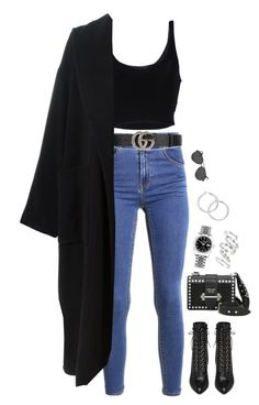 """""""Untitled #2725"""" by chanelzizzles ❤ liked on Polyvore featuring Roque, Prada, Gucci, Jean-Paul Gaultier, Yves Saint Laurent, Luv Aj and Rolex"""