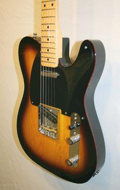 "Fender Custom Shop '50s Light Ash Telecaster NOS (2 Tone Sunburst, Maple) NOS 50s Telecaster, Light Ash, 2TS, Oval C Neck, 9.5"" radius, 6105 frets, Tortoiseshell top binding, tinted maple neck, 1-ply Black pickguard. £2099 #fender #telecaster #tele #ash #gorgeous #guitar"