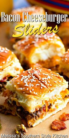 Grilled Burger Recipes, Gourmet Burgers, Cheese Burger, Soup Appetizers, Appetizer Recipes, Slider Sandwiches, Cheeseburger Sliders, Hawaiian Sweet Rolls, Ground Beef Recipes Easy