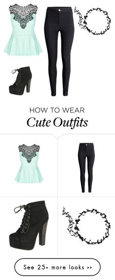 """""""Cute outfit. """" by gumimegpoid on Polyvore featuring H&M, City Chic and Breckelle's"""