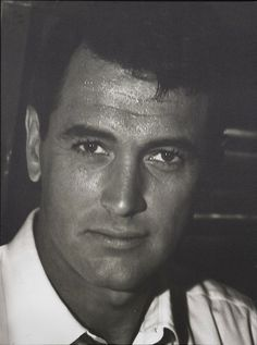 Rock Hudson Black and white portrait. More pics on The Rock Hudson Project FB page here