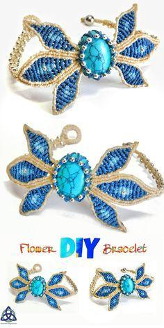 • In this Macrame tutorial video you will see how to make Macrame Bracelet tutorial: Blue Flower DIY #macrame #macramebracelet #DIY #MacrameDIY #braceletDIY #DIYcraft #craft #howtomake #jewelrymaking #jewelryDIY #handmade #Macramewrapping #stonewrapping #gemstone #MacramemagicKnots