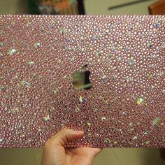 Bling light rose light pink laptop case MacBook case