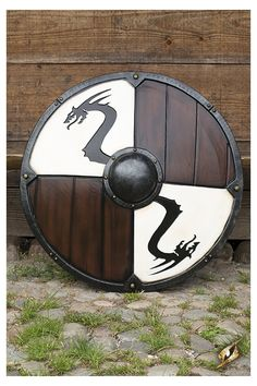 Viking Dragon Shield White