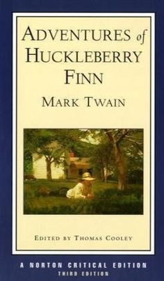 Adventures of Huckleberry Finn : An Authoritative Text Contexts and Sources Criticism (Norton Critical Edition) by Mark Twain, http://www.amazon.com/gp/product/0393966402/ref=cm_sw_r_pi_alp_EkUbqb0NHE0J7