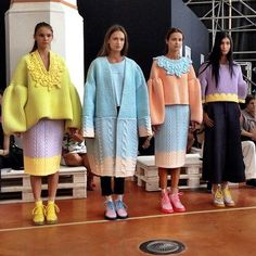 Xiao Li. love the colours and the boxy styles