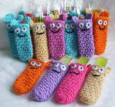 Freezie Friends...PDF Crochet Pattern...New Pattern by KTBdesigns