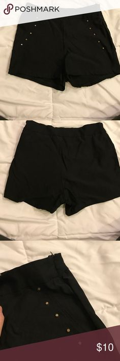 Charlotte Russe High-Wasted studded shorts Never been worn, supper stretchy, says size is a large but can fit mediums due to material Charlotte Russe Shorts