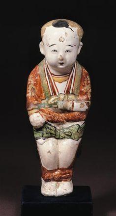 Statuette d'enfant  (C) RMN-Grand Palais (musée Guimet, Paris) / Droits réservés  13e siècle, dynastie Jin (1115-1234), dynastie Song (960-1279), dynastie Yuan (1279-1368)  céramique, terre cuite  Chine