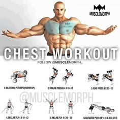 Is your chest lagging? Try this workout SAVE it so you can use it at the gymLIKE and FOLLOW @musclemorph_ for more exercise & nutrition tips TAG A GYM BUDDY . Enhance Your Progress with high quality supps from MuscleMorph  click the link in our bio to get