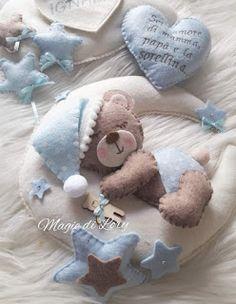Baby Boy Birth Announcement, Asian Bridal Dresses, Baby Wall Art, Sweetest Day, Baby Time, Felt Ornaments, Felt Animals, Felt Crafts, Mobiles